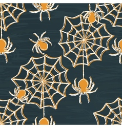 Grunge Halloween seamless pattern vector image