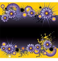 Grunge Purple Floral Background vector