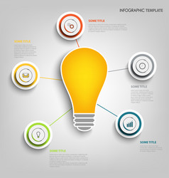 Info graphic with design pointers and bulb vector
