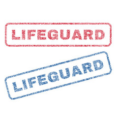 Lifeguard textile stamps vector