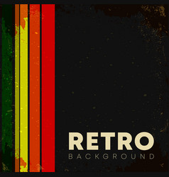 Linear background with retro grunge texture and vector