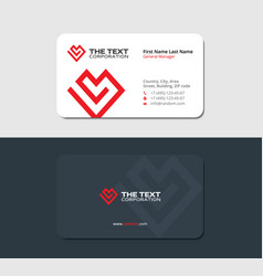Matte business card for the donor clinic vector