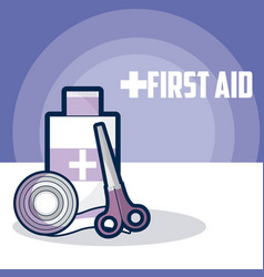 Medical first aid vector