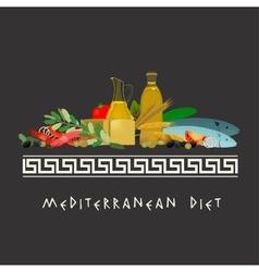 Mediterranean Diet Image vector image