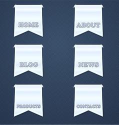 Navigation design elements vector