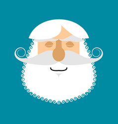 old man sleeping emoji senior with gray beard vector image
