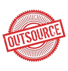 Outsource stamp rubber grunge vector