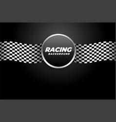 racing background with checkered flags vector image
