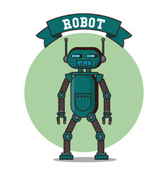 robot funny cartoon vector image