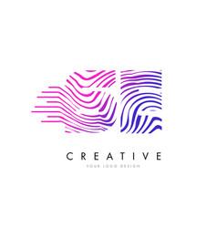 se s e zebra lines letter logo design with vector image