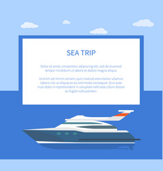 Sea trip colorful banner vector