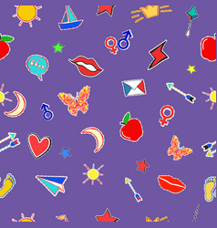 seamless pattern in doodle style love theme vector image