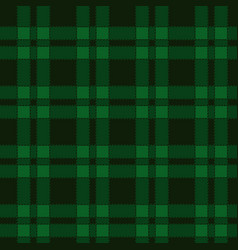 Seamless pattern of green tartan vector