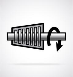 Simple turbine icon vector