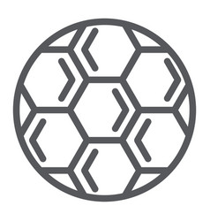 Soccer ball line icon play and game football vector