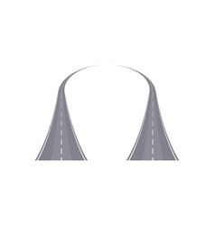 Two curved highway with markings vector