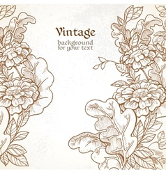 Vintage background with wild meadow flowers vector