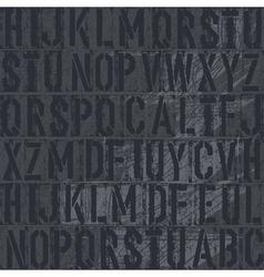 vintage letterpress vector image
