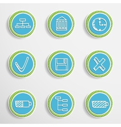 Web Buttons with Drawing Icons vector image vector image