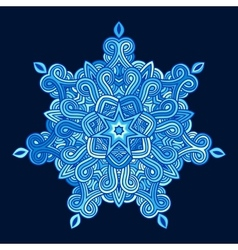 winter celtic knot pattern card mandala amulet vector image