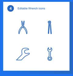wrench icons vector image