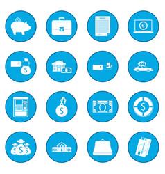 credit set icon blue vector image vector image