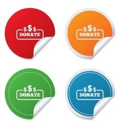 Donate sign icon dollar usd symbol vector