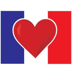 heart france flag vector image vector image