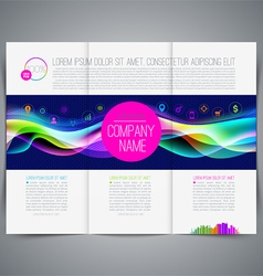 Multicolored template leaflet page design vector image vector image