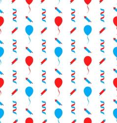 Seamless Texture for Independence Day of America vector image vector image