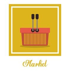 Market design vector image