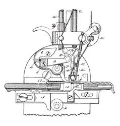 sewing machine vintage vector image vector image