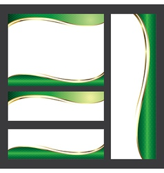 Template green card element design vector image