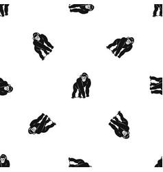 bonobo pattern seamless black vector image