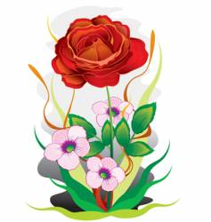bouquet of colors vector image vector image