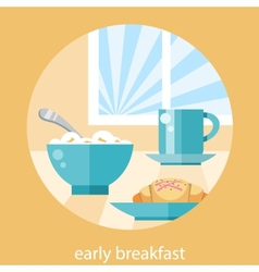Breakfast time concept vector image