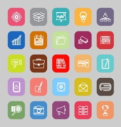 Data and information line flat icons vector image