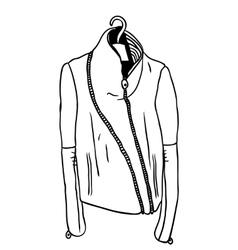 Hand drawn Creative black contour vector image