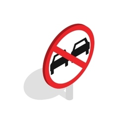 No overtaking sign icon isometric 3d style vector image vector image
