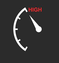 Speedometer tachometer fuel low level icon flat vector