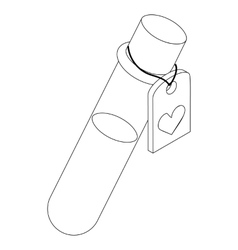 Test tube of love elixir icon isometric 3d style vector image vector image