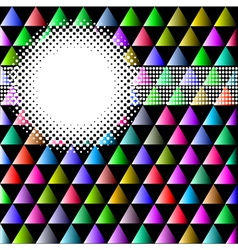 background with colored triangles and circles vector image vector image