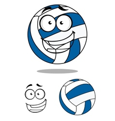 Happy cartoon volley ball vector image vector image