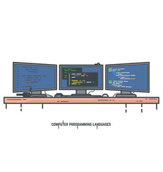 Programming languages concept vector