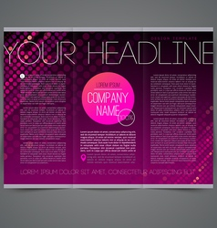 Template abstract leaflet page design vector image vector image