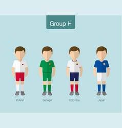 2018 soccer or football team uniform group h vector