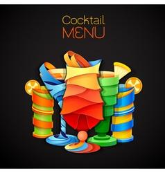 3D cocktail tequila sunrise design vector