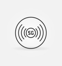 5g technology concept icon in thin line vector image