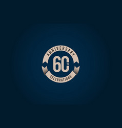 60 years anniversary celebration logo template vector