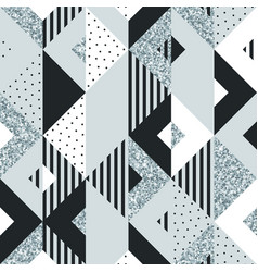 abstract geometric background silver glitter vector image